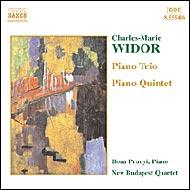 Widor, Charles-Marie: d-moll Zongorakvintett; B-dúr zongoratrió