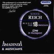 Reich, Steve: Zene 18 előadóra