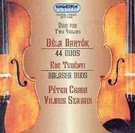 Bartók Béla: 44 duó<br> Terényi Ede: Balassa-duók