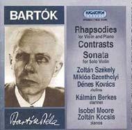 Bartók Béla: Két rapszódia hegedűre és zongorára; Kontrasztok; Szólószonáta hegedűre