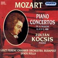 Mozart, Wolfang Amadeus: Zongoraversenyek K.414, K.488