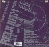 Balassa Sándor: Requiem Kassák Lajosért, Op.15; Legenda Op.15; Cantata Y, Op.21