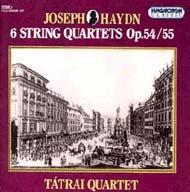 Haydn, Joseph: Hat vonósnégyes op.54/55 (Tost kvartettek)