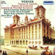 Werner, Gregor Joseph: Vesperae de apostolis