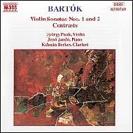 Bartók Béla: I-II. hegedűszonáta; Kontrasztok