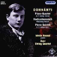 Dohnányi Ernő: Fisz moll zongoranégyes; Nászinduló; C-moll zongoraötös Op.1